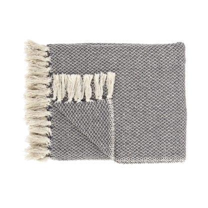 Plaid en coton - Gris