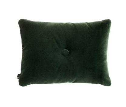 Coussin Dot - Velours vert