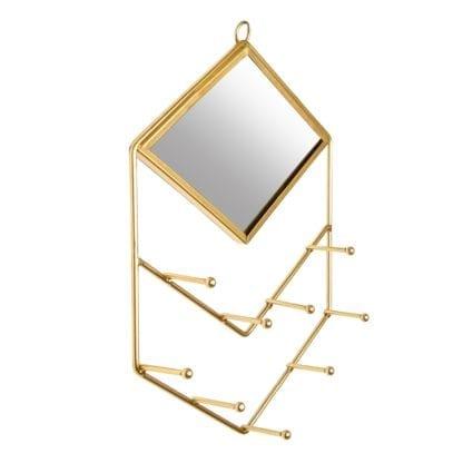 Support à bijoux - Miroir doré