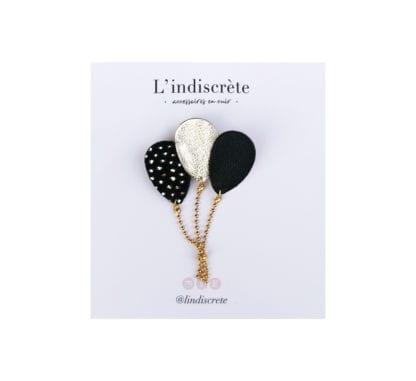 Broche ballon - Noir/Doré
