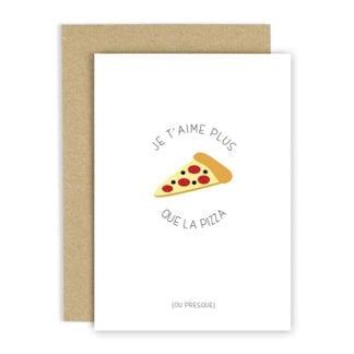 Carte de voeux - Pizza