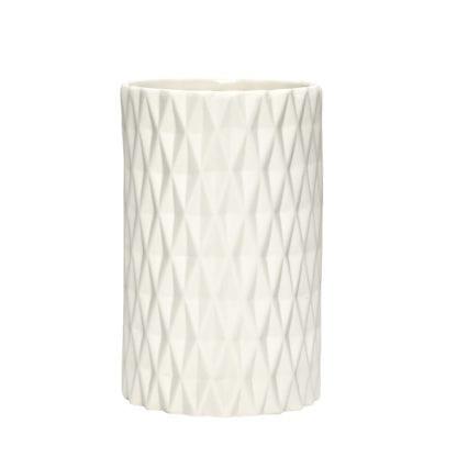 Vase géométrique - Blanc