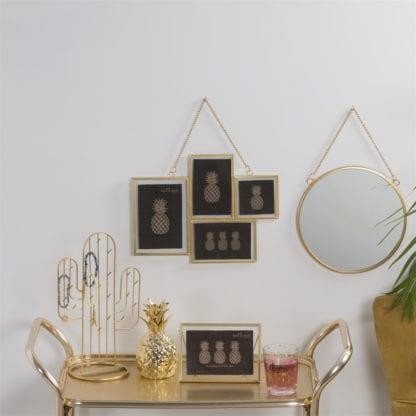 Miroir rond - Doré