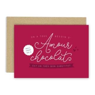 Carte de voeux - Amour & chocolat