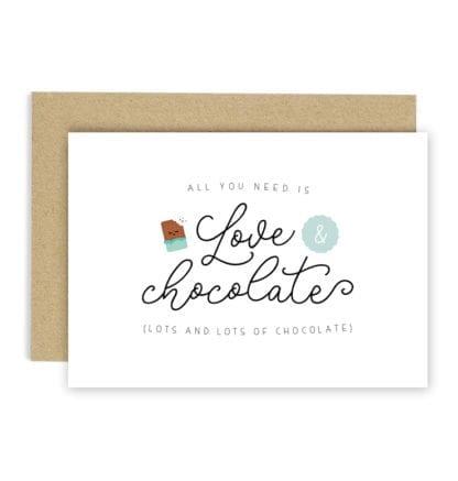 Carte de voeux - Love & chocolate