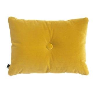 Coussin Dot - Velours jaune