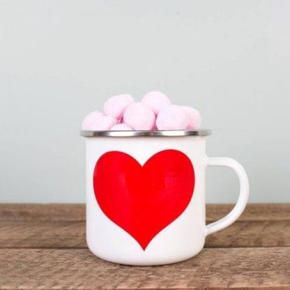Mug émaillé - Coeur