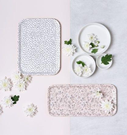 Plateau à motifs - Fleurs