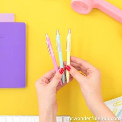 Set de 3 stylos - Powerful