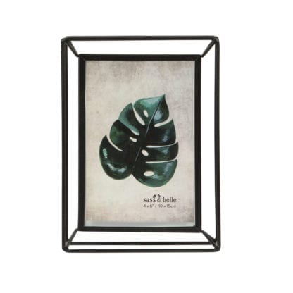 Cadre en verre - Métal noir