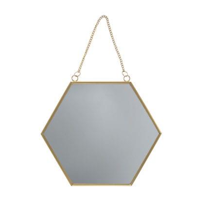 Miroir hexagonal - Doré