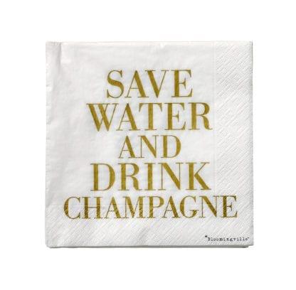 Serviettes - Champagne