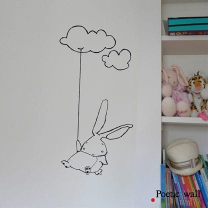 Sticker mural – Lapin nuage