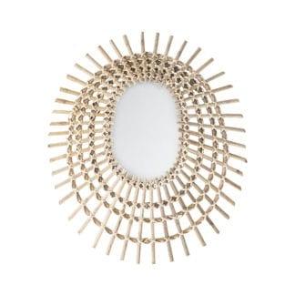 Miroir - Rond en rotin