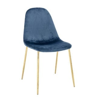 Chaise - Velours bleu