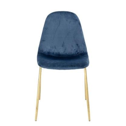 Chaise - Velours bleu