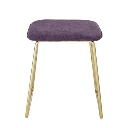Tabouret - Doré/violet