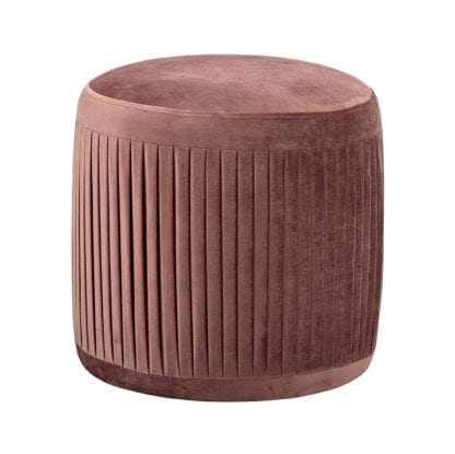 Pouf - Velours rose