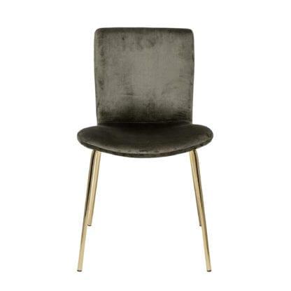 Chaise - Velours khaki