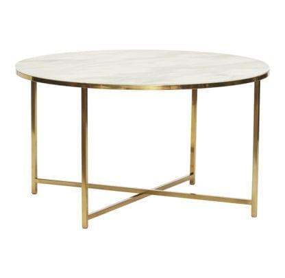 Table basse - Doré/Marbre