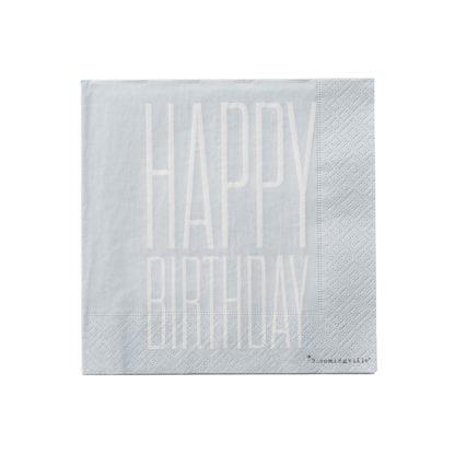 Serviettes - Happy birthday