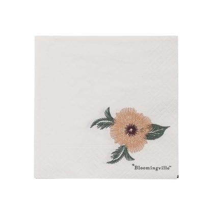 Serviettes - Fleur