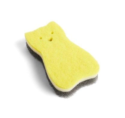Éponge - Chat jaune