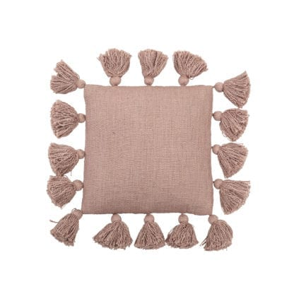 Coussin pompons - Rose