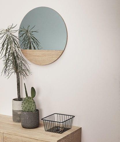 Miroir – Rond en bois
