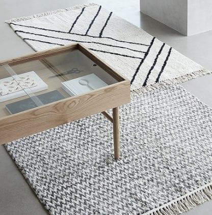 Table basse - Bois/Verre