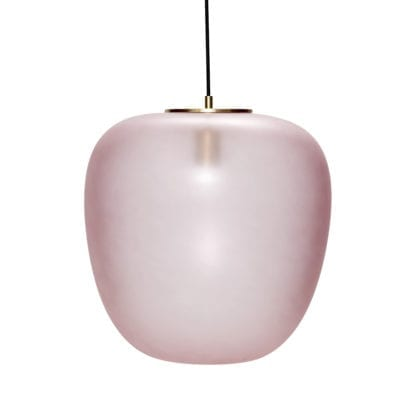 Suspension en verre - Rose