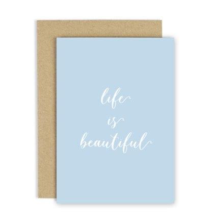Carte de voeux – Life is beautiful