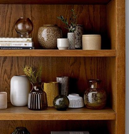 Vase en verre - Marron/jaune