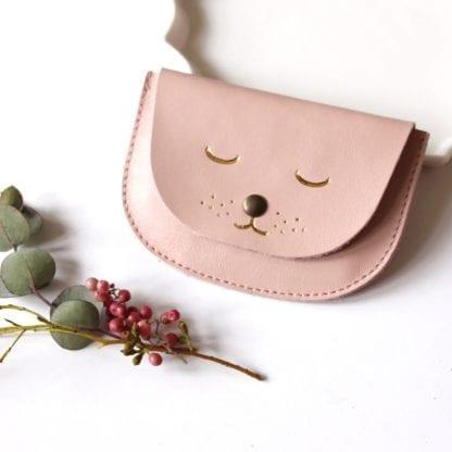 Porte-monnaie - Chat rose