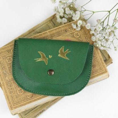 Porte-monnaie - Hirondelle vert