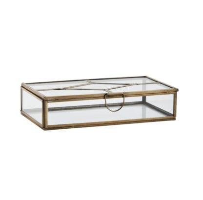Boîte en verre - Laiton