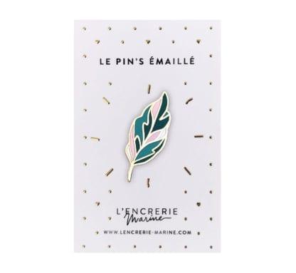 Pin's émaillé – Feuille de calathéa