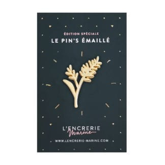 Pin's émaillé – Graminées dorées