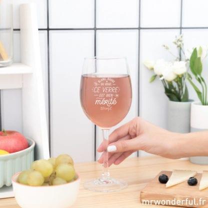 Verre à vin - Bien mérité