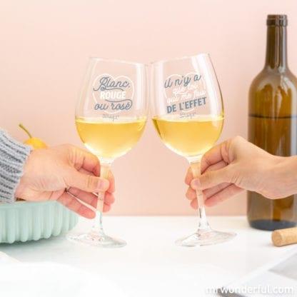 Verres à vin - Pour trinquer (2pcs)