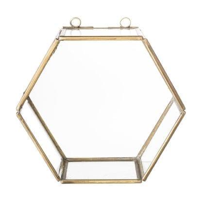 Étagère en verre - Hexagonale