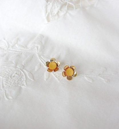 Boucles d'oreilles – Fleurs Moutarde