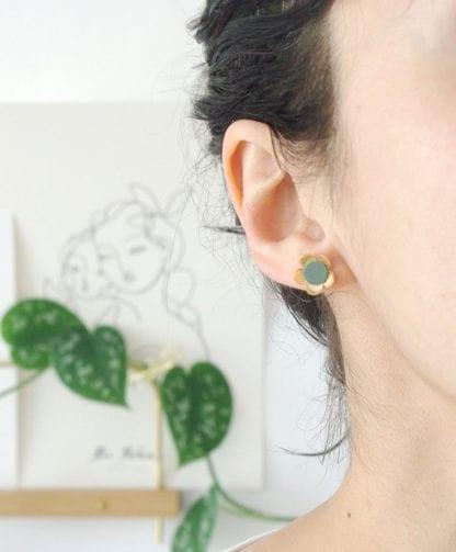 Boucles d'oreilles – Fleurs Sauge