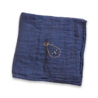 Lange bleu brodé - Poire