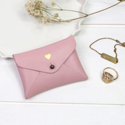 Porte-monnaie - Cœur rose