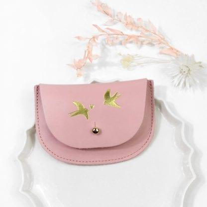 Porte-monnaie - Hirondelle rose