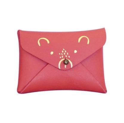 Porte-monnaie - Ourson fraise
