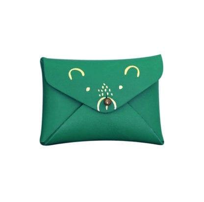 Porte-monnaie mini - Ourson vert
