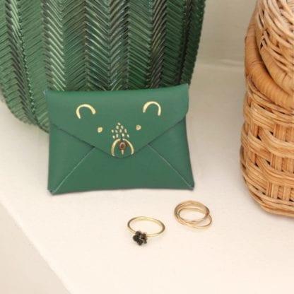 Porte-monnaie - Ourson vert