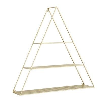 Étagère triangle – Doré